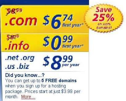 1and1 Domain Only 099 1st Year