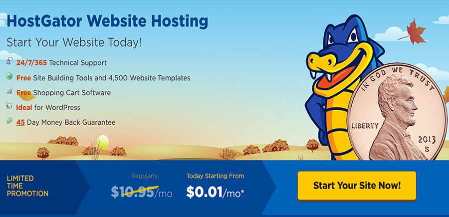 hostgator one penny 0.01 per month promotion
