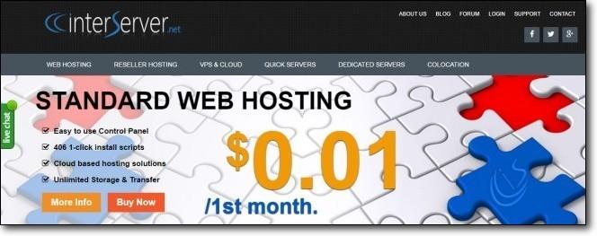 interserver one cent web hosting promotion